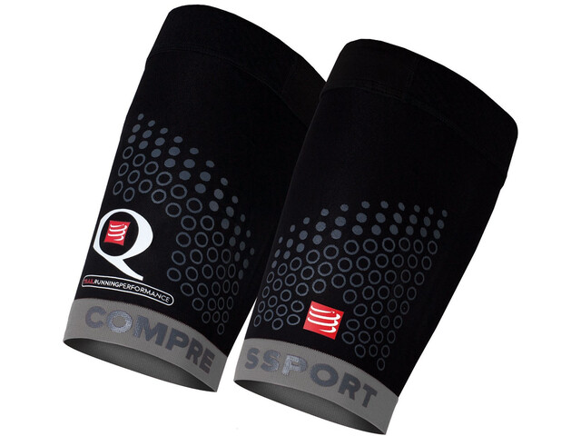 Compressport Trail - Calentadores - gris/negro